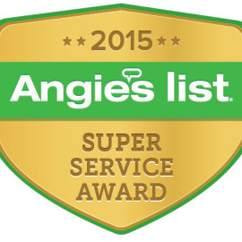 A+ Super Service Award with Angie's List