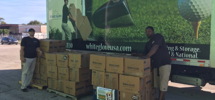 Nearly 1.5 Tons of Food Raised During the 6th Annual White Glove Moving Holiday Food Drive