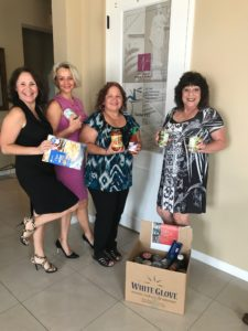 Better Business Bureau food drive particants